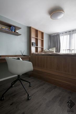 久栖设计 紫御国际 复式 北欧 日式 室内设计 储物收纳 收纳 儿童房图片来自久栖设计在久栖作品紫御长安丨魔方小复式的分享
