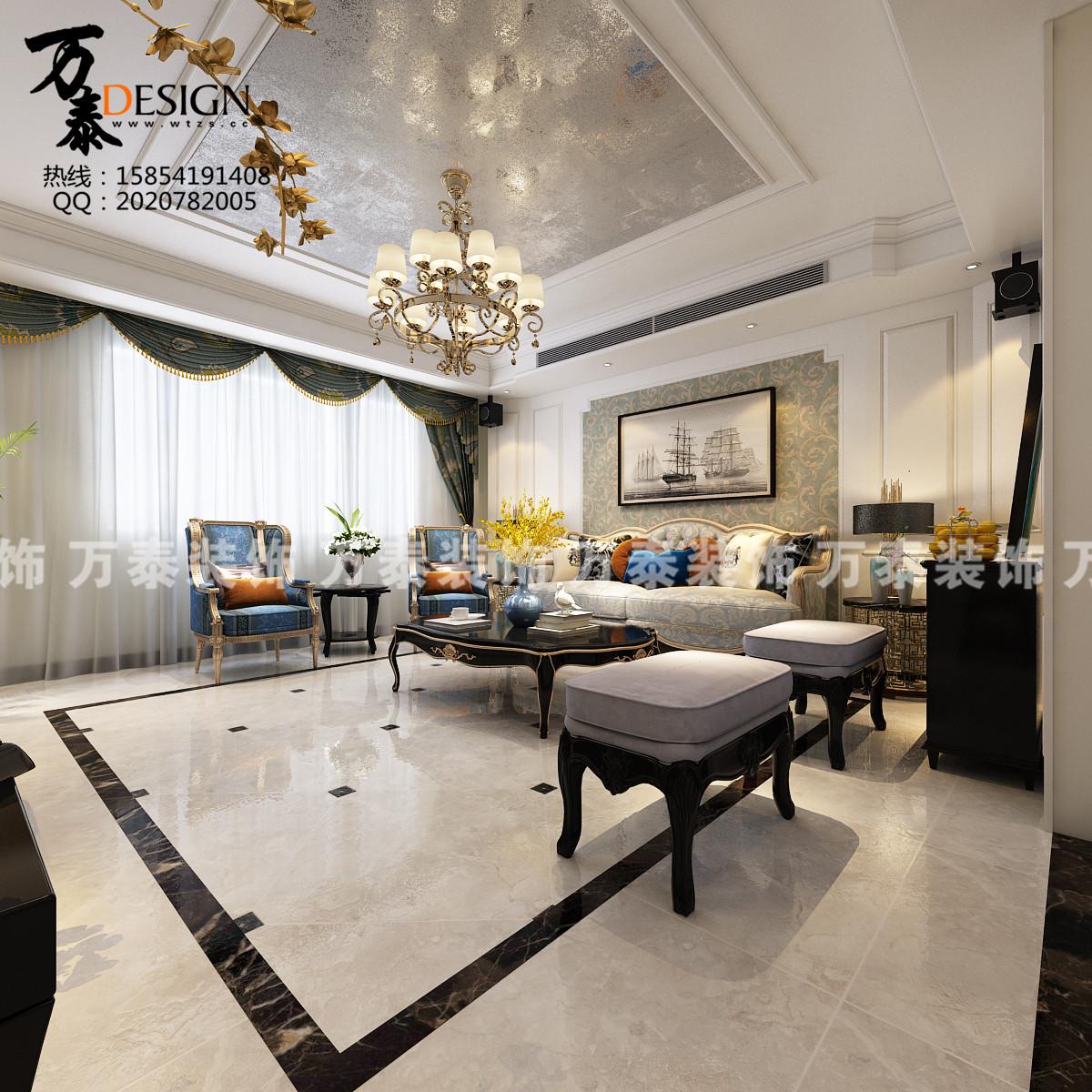 万泰装修图片来自济南万泰装修设计总部在中新国际城欧式风格装修案例的分享