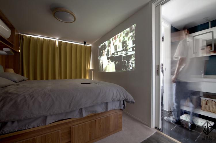 久栖设计 紫御国际 复式 北欧 日式 室内设计 储物收纳 收纳 卧室图片来自久栖设计在久栖作品紫御长安丨魔方小复式的分享