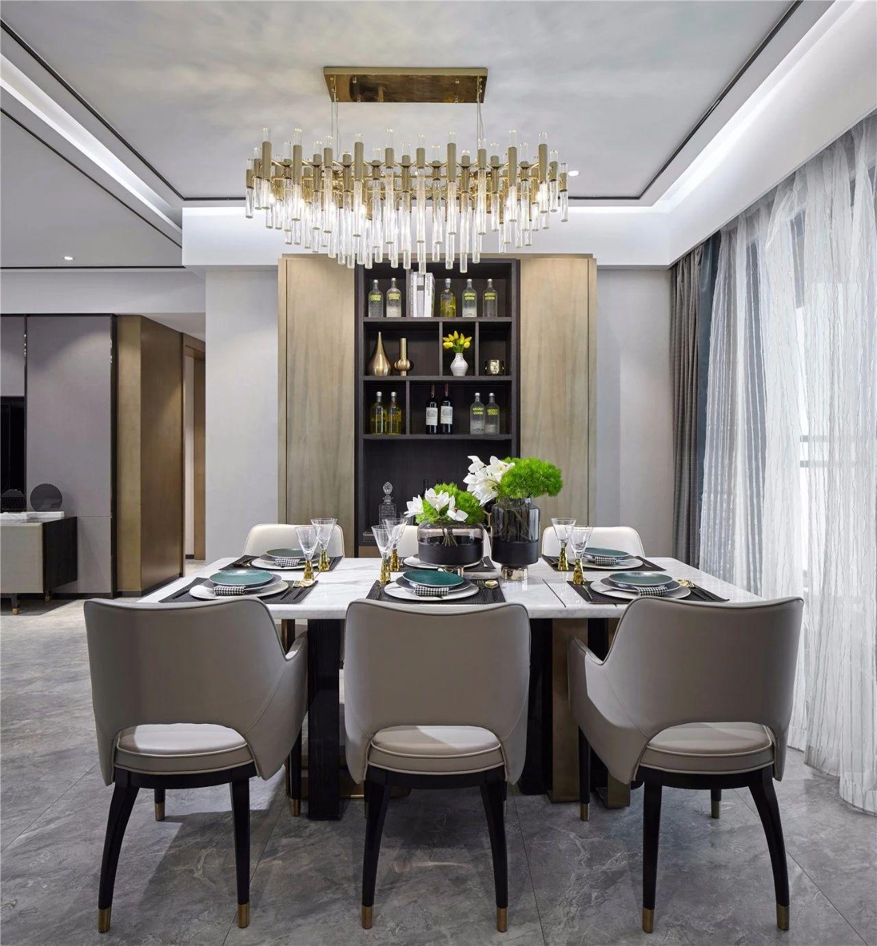 现代 基装 全包 鹏友百年 私人订制 全案设计 餐厅图片来自鹏友百年装饰在自带优雅静谧的气质的分享