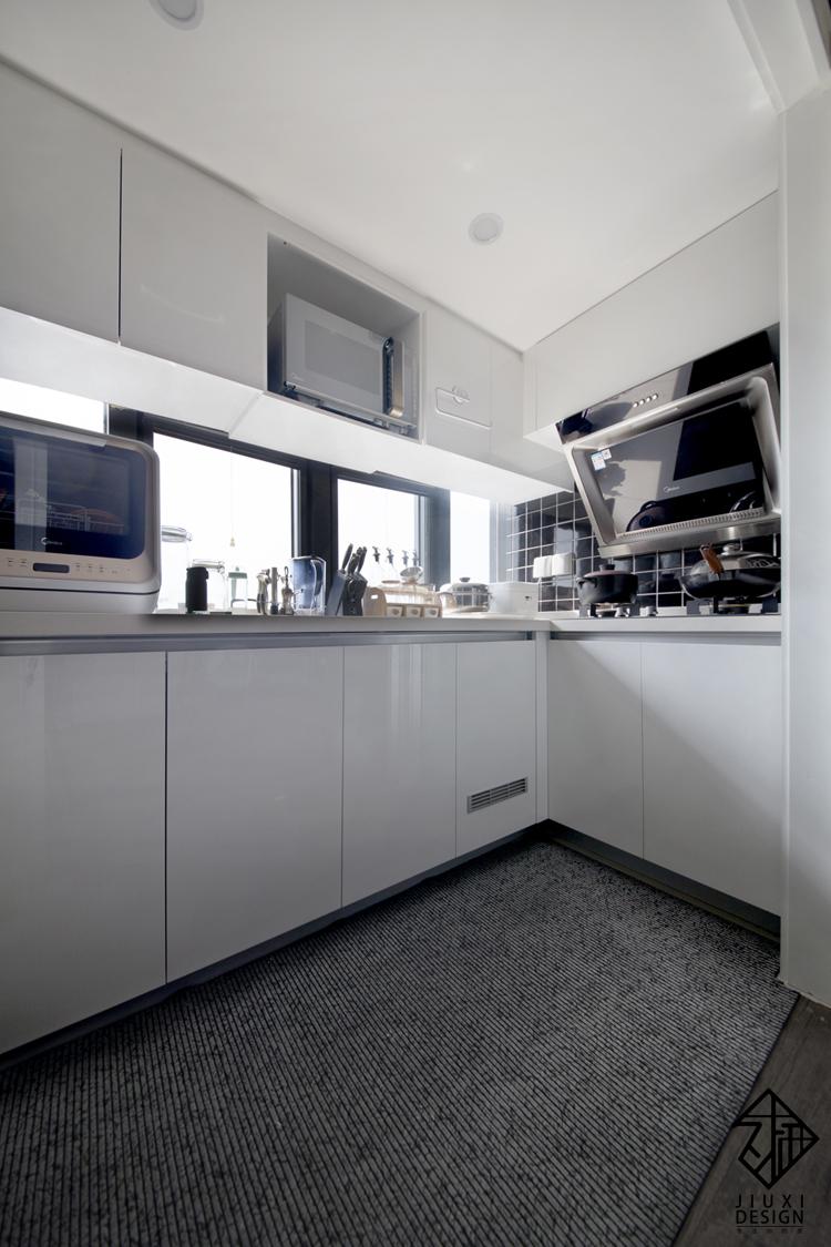 久栖设计 紫御国际 复式 北欧 日式 室内设计 储物收纳 收纳 厨房图片来自久栖设计在久栖作品紫御长安丨魔方小复式的分享