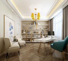 三居 欧式 书房图片来自云南俊雅装饰工程有限公司在宝象康园的分享