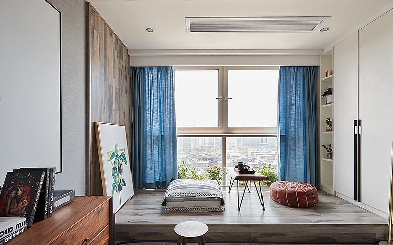 阳台图片来自家装大管家在98平北欧混搭空间 自然如此的近的分享