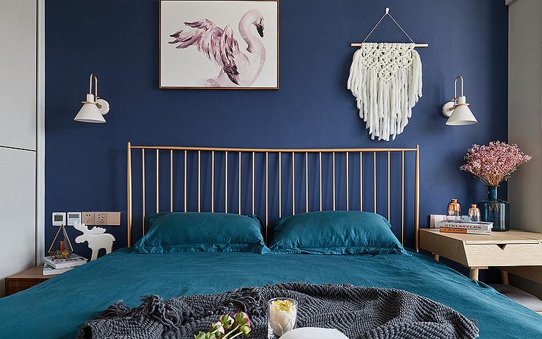 卧室图片来自家装大管家在98平北欧混搭空间 自然如此的近的分享