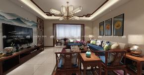 中式 古典 中式古韵 古香 传统 收纳 旧房改造 80后 混搭 客厅图片来自二十四城装饰(集团)昆明公司在都铎城邦  中式的分享