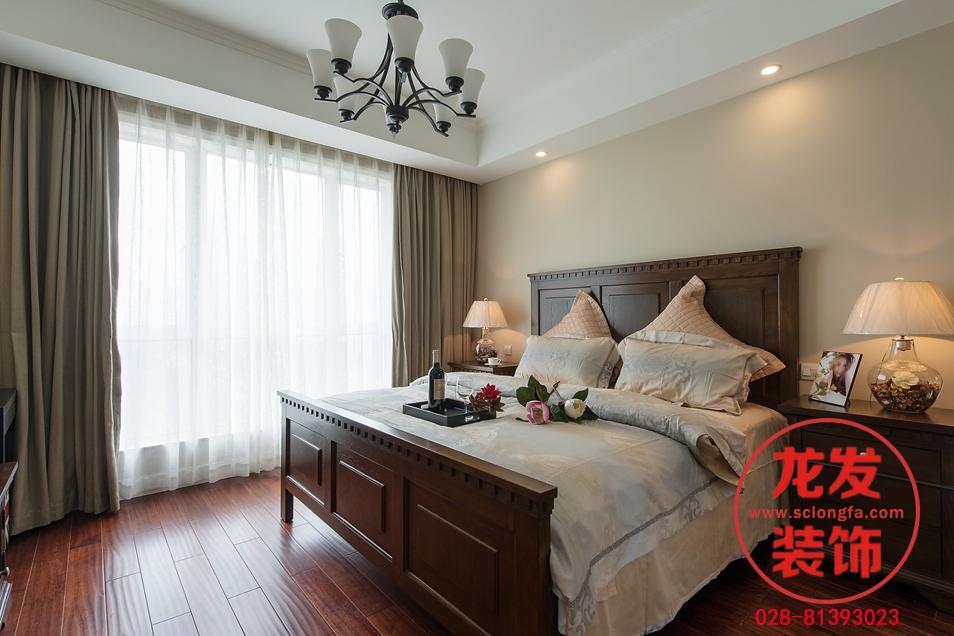 成都龙发 龙发装饰 龙发设计 卧室图片来自用户20000004404262在中海右岸现代美式风格案例分享的分享