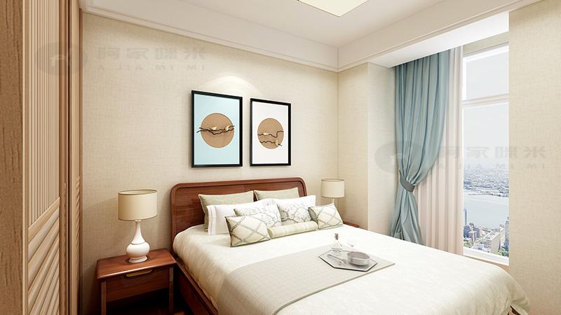 新中式 二居 客厅 卧室 餐厅图片来自浙江阿家咪米在阿家咪米客户案例的分享