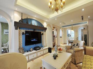 尚汇豪庭四房装修美式地中海