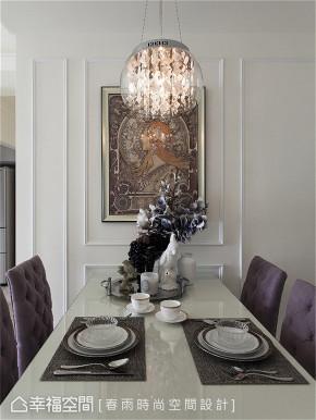 装修设计 装修完成 新古典 小资 餐厅图片来自幸福空间在76平,轻奢唯美 浪漫古典之境的分享
