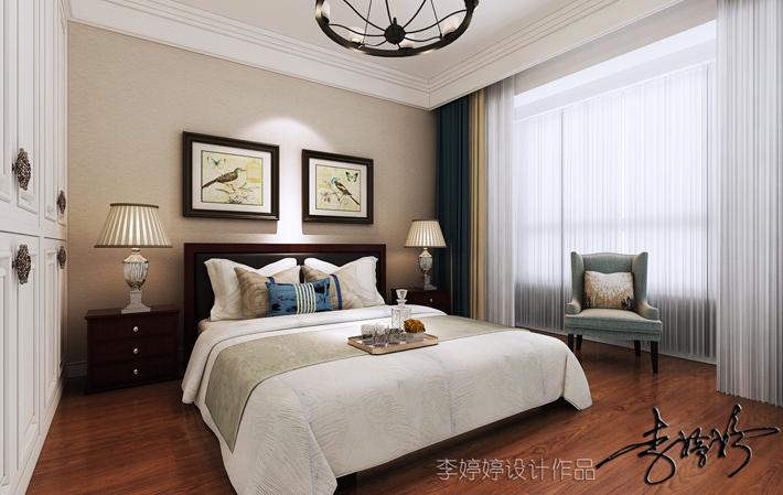 卧室图片来自沈阳百家装饰小姜在百家装饰保利心语148平美式风格的分享