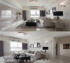客厅 白色线板墙面上悬挂黑框挂画,搭配风格壁灯、立灯,周建志设计师以现代美式语汇诠释客厅表情。