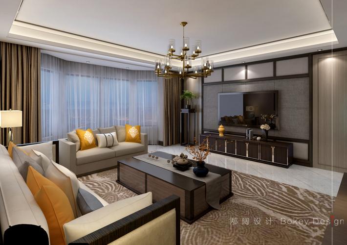 客厅图片来自沈阳百家装饰小姜在百家装饰碧桂园158平新中式风格的分享