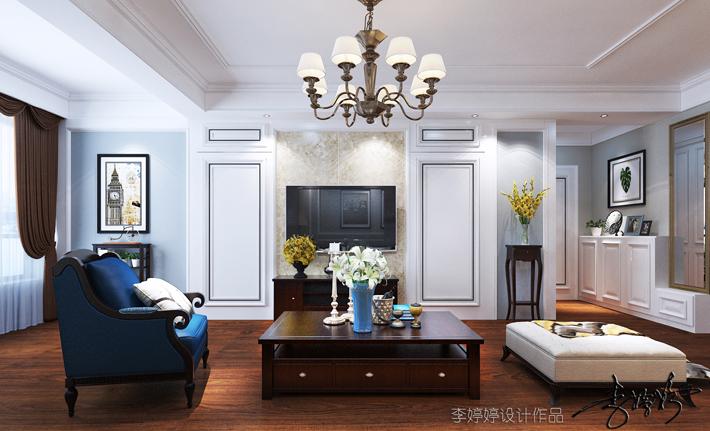 客厅图片来自沈阳百家装饰小姜在百家装饰保利心语148平美式风格的分享