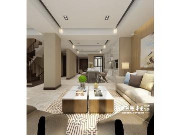 金地铂悦430平别墅现代简约风格