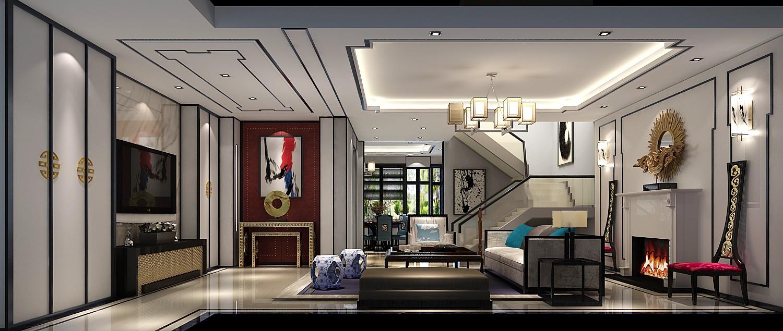 高度国际 别墅装修 长阳半岛 新中式 其他图片来自北京高度国际-陈玲在长阳半岛联排--新中式风格的分享