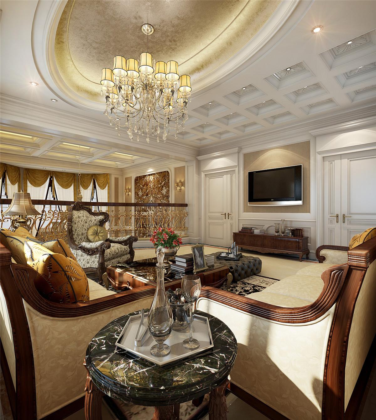 汤臣高尔夫 别墅装修 欧式古典 腾龙设计 客厅图片来自孔继民在汤臣高尔夫700平别墅欧式古典的分享