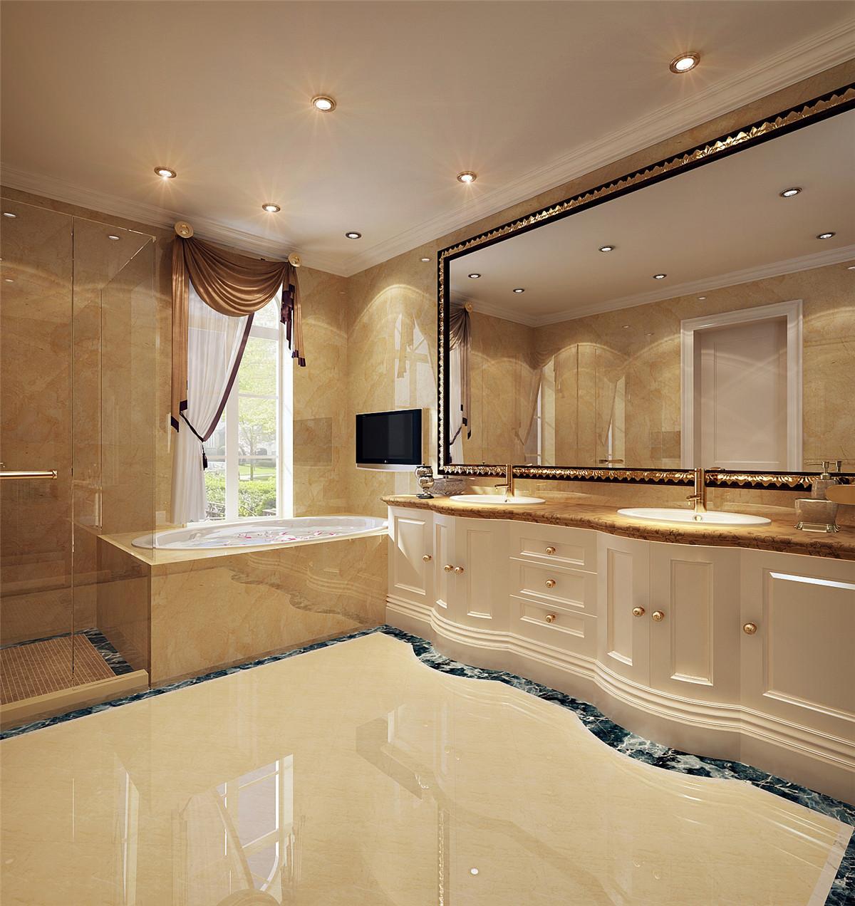 汤臣高尔夫 别墅装修 欧式古典 腾龙设计 卫生间图片来自孔继民在汤臣高尔夫700平别墅欧式古典的分享