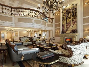 汤臣高尔夫700平别墅欧式古典