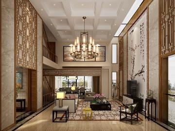 汤臣湖庭花园别墅新中式设计