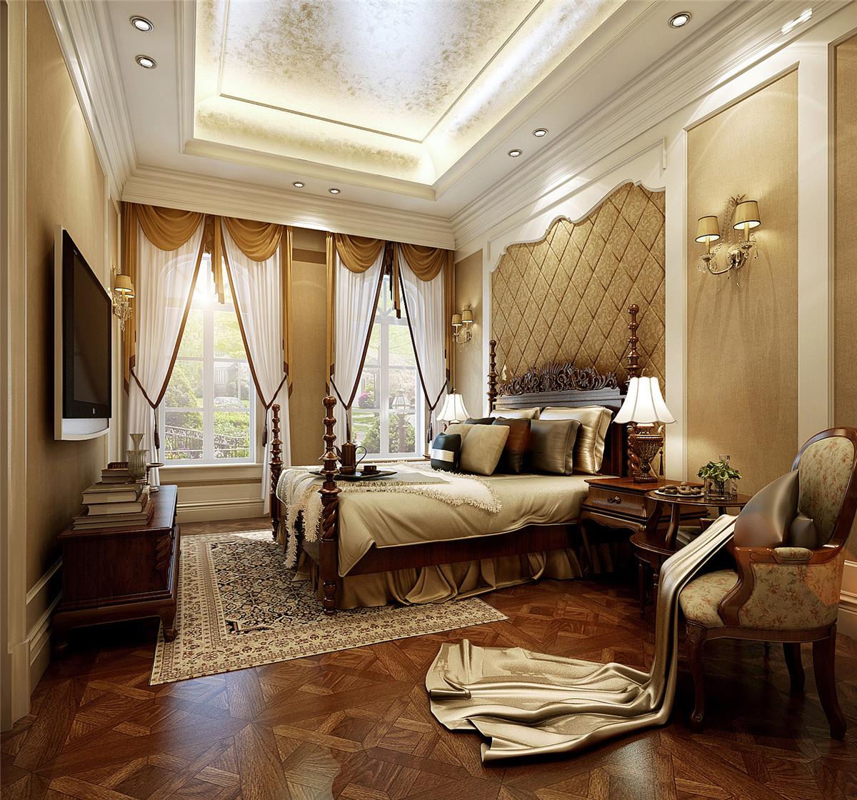 汤臣高尔夫 别墅装修 欧式古典 腾龙设计 卧室图片来自孔继民在汤臣高尔夫700平别墅欧式古典的分享