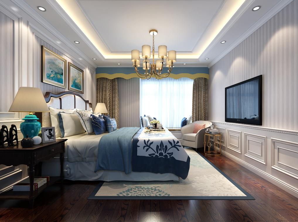 简欧 复式 IT 新房装修 卧室图片来自乐粉_20181003112538352在225㎡简欧装修实景案例的分享