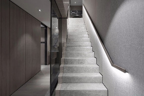 简约 跃层 鹏友百年 基装 全包 私人订制 全案设计 楼梯图片来自鹏友百年装饰在灰到极致,是至高无上的品味!的分享