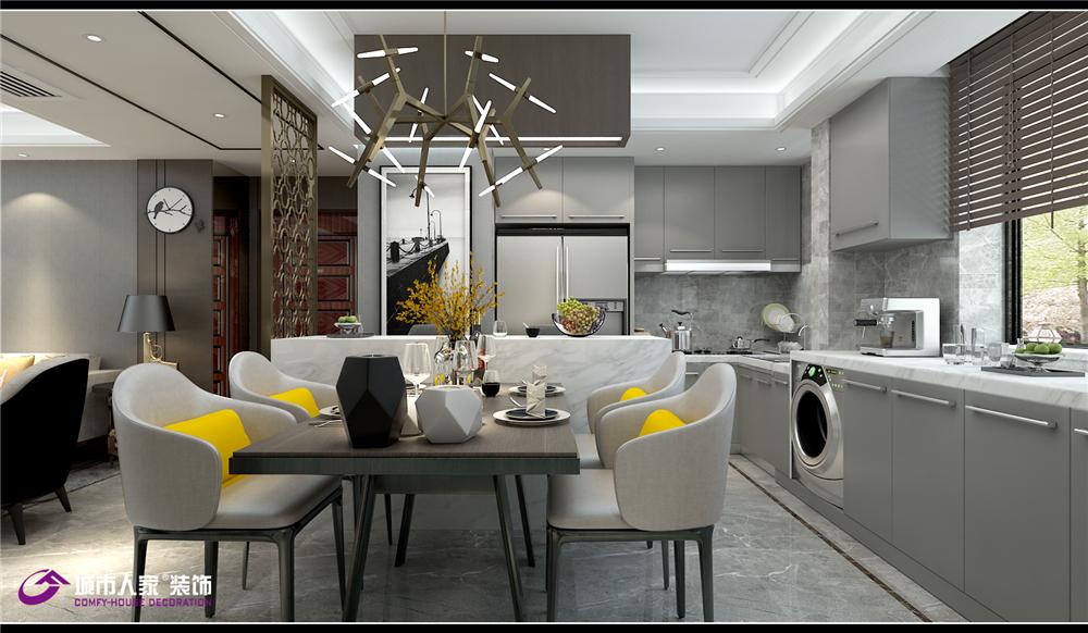 简约 餐厅图片来自济南城市人家装修公司-在财富壹号装修轻奢风格设计效果图的分享