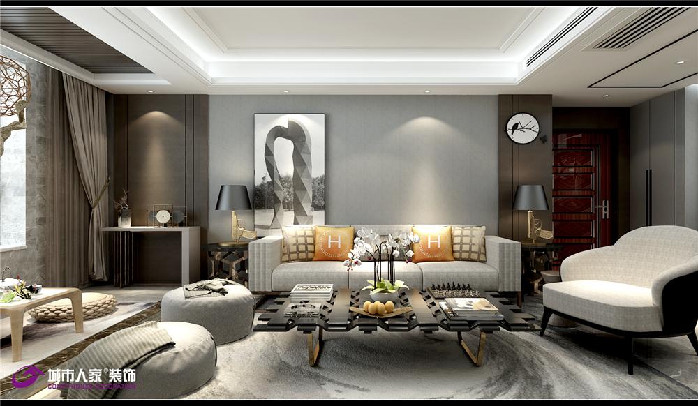 简约 客厅图片来自济南城市人家装修公司-在财富壹号装修轻奢风格设计效果图的分享