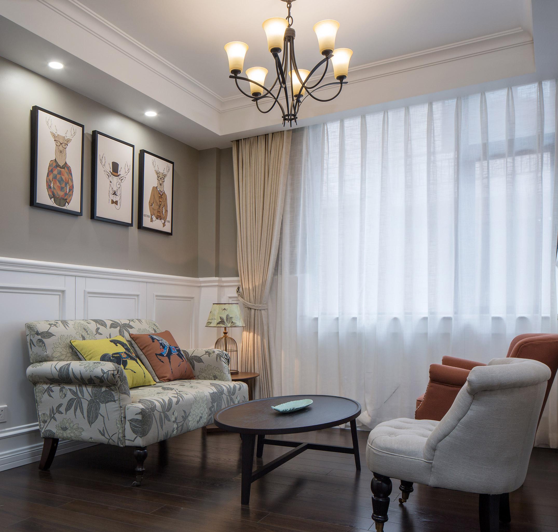 中科大学城 别墅装修 欧美风格 别墅设计师 客厅图片来自腾龙设计在美式风格别墅装修完工实景的分享