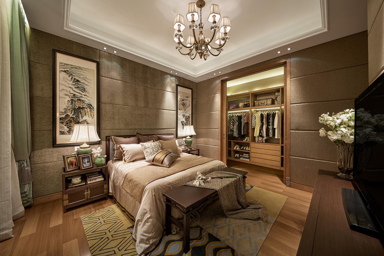 泗泾颐景园 别墅装修 中式风格 别墅设计师 卧室图片来自腾龙设计在中式风格别墅设计案例展示的分享