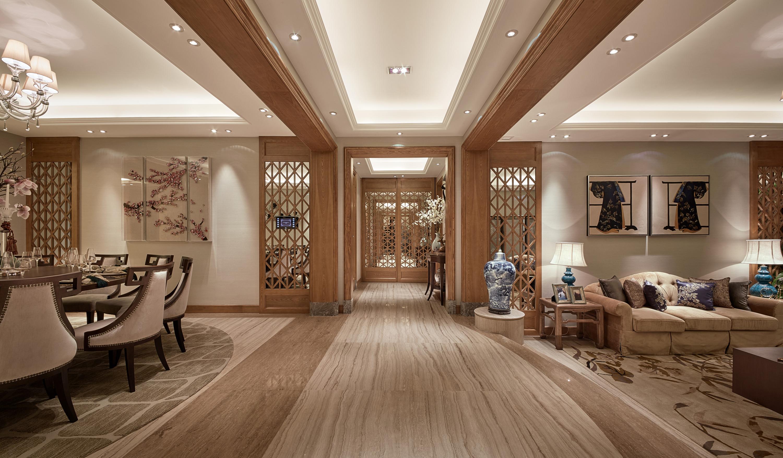 泗泾颐景园 别墅装修 中式风格 别墅设计师 玄关图片来自腾龙设计在中式风格别墅设计案例展示的分享