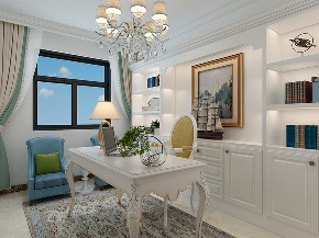 美式 家装 四居 80后 书房图片来自济南世纪宏达装饰在金汇瀚玉城的分享