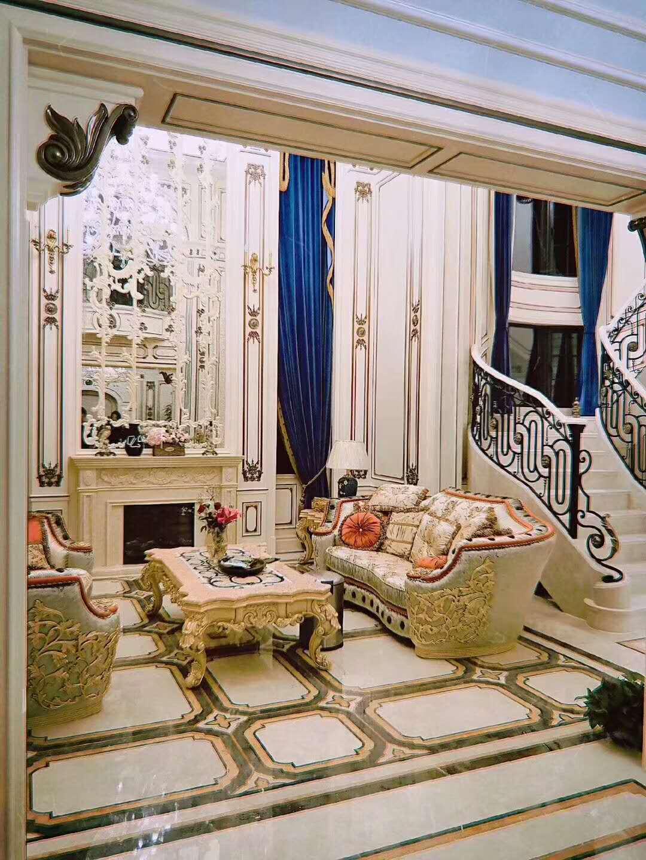 四季雅苑 别墅装修 法式风格 别墅设计师 客厅图片来自腾龙设计在法式风格别墅设计案例展示的分享