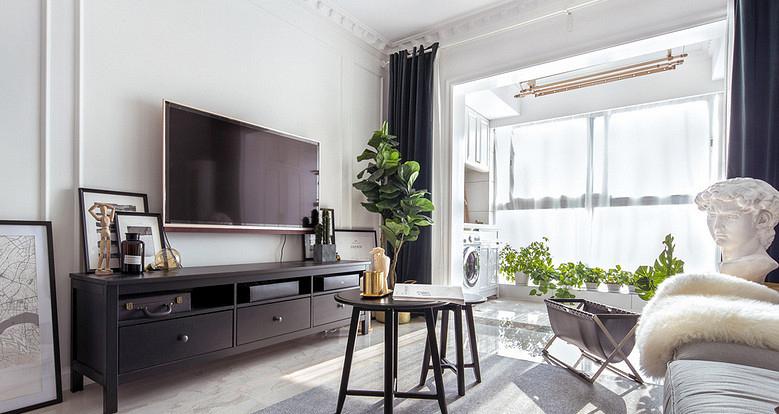 客厅图片来自家装大管家在120平美式明亮居 小家温馨惹人爱的分享
