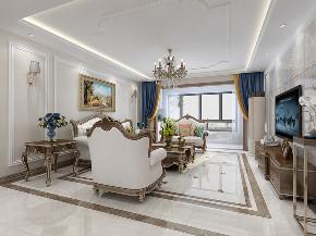 美式 家装 四居 80后 客厅图片来自济南世纪宏达装饰在金汇瀚玉城的分享