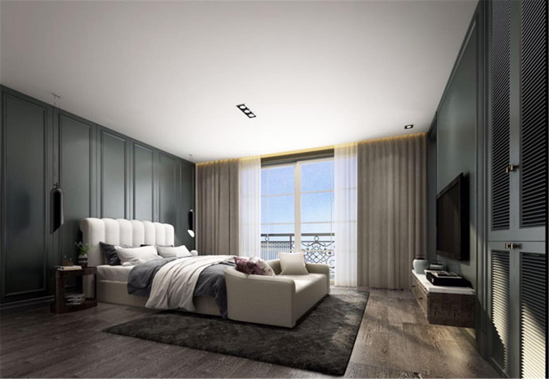 青浦海上湾 别墅装修 现代风格 别墅设计师 卧室图片来自jtong0002在青浦海上湾别墅装修新中式设计的分享