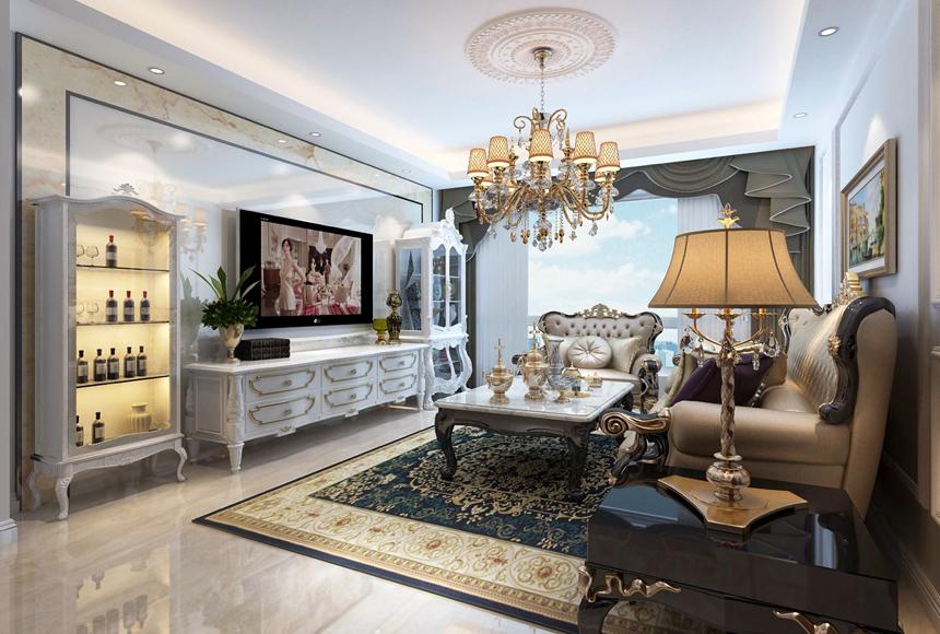 客厅图片来自装修顾问老王在沈阳平价装修-新世界花园美式的分享