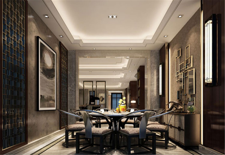 青浦海上湾 别墅装修 现代风格 别墅设计师 餐厅图片来自jtong0002在青浦海上湾别墅装修新中式设计的分享