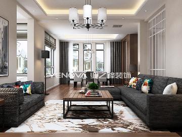 孔雀城202平别墅简约风格设计