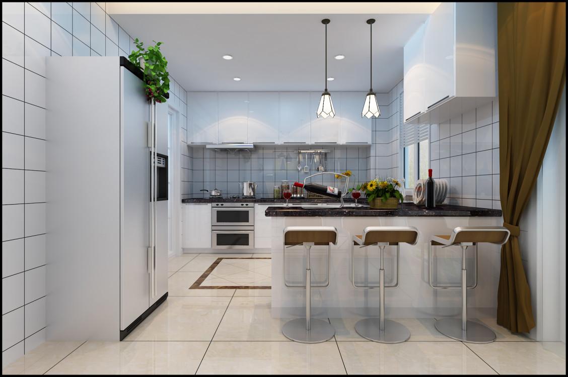 简约 复式 清新舒适 90后 厨房图片来自乐粉_20181003112538352在330平清新温暖复式3层的分享