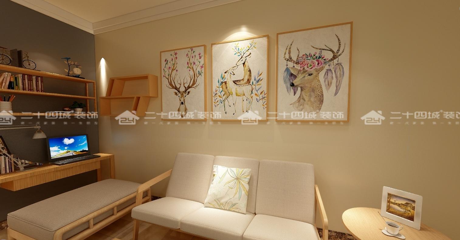 简约 北欧 混搭 白领 收纳 旧房改造 小资 温馨 舒适 客厅图片来自二十四城装饰(集团)昆明公司在盛唐城 北欧的分享