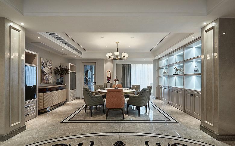 餐厅图片来自家装大管家在都市新贵 190平轻奢后现代4居室的分享