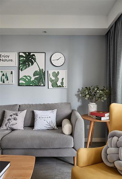 客厅图片来自家装大管家在106平时尚北欧3居室 大写的实用的分享