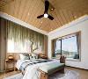 """设计师曾言:""""为了将自然的灵气最大程度地纳入空间,我们在硬装布局上尽致呈现开放感,卧室尽量能左右双向开窗。"""
