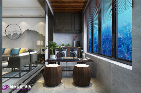 简约 新中式 阳台图片来自济南城市人家装修公司-在济南拉菲公馆新中式风格装修的分享