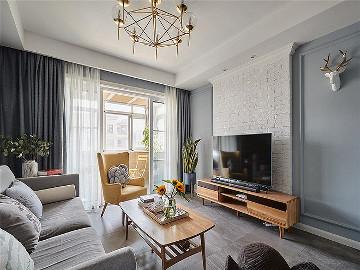 106平时尚北欧3居室 大写的实用