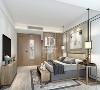 新中式风格的家具以原木色调、巧妙的搭配,与整体环境完美融合,共同营造出东方的沉静和优雅。而新中式风的水晶饰品、挂画则安然而低调地静处一隅,散发着中西交融的灵性哲思。