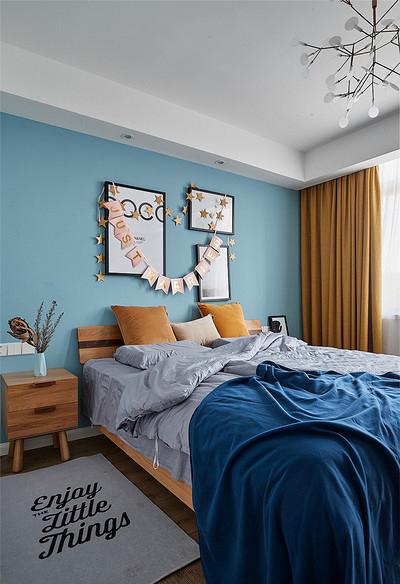 卧室图片来自家装大管家在106平时尚北欧3居室 大写的实用的分享