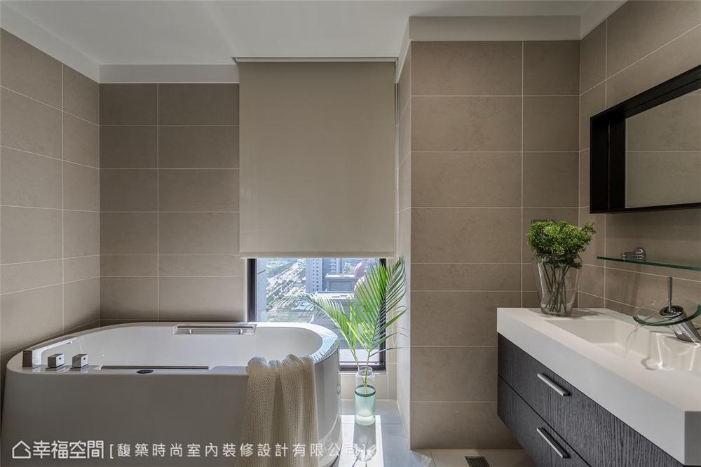 装修设计 装修完成 现代风格 卫生间图片来自幸福空间在264平,木石疗愈 温馨度假宅邸的分享