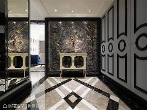 装修设计 装修完成 新古典 玄关图片来自幸福空间在165平,两户合并  打造不凡居所的分享